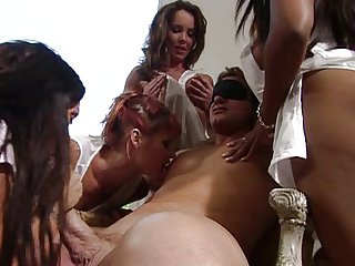 Gangbang orgy fuck for the luckiest guy on earth