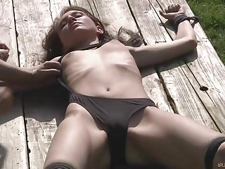 Teeny Nataly ruthlessly humiliated and fucked