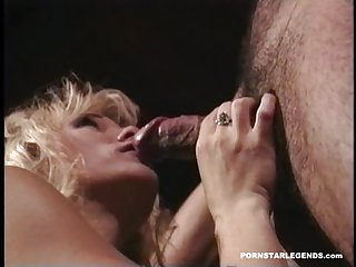 Two blond pornstars being fucked side by side