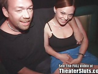 Red Head Slut Kayce Ravaged In Porno Theater