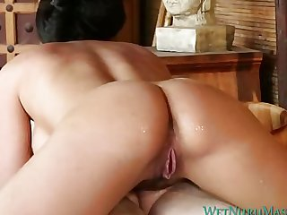 Anissa Kate gives hot nuru massage