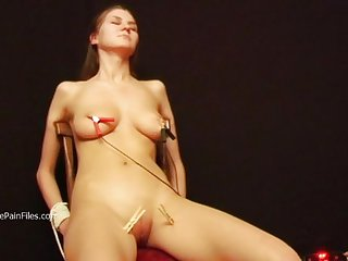 Debutant russian slaves electro bdsm and pegs