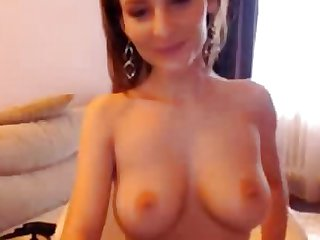 Amazing Busty Girl Using Oil On Her Hot Body