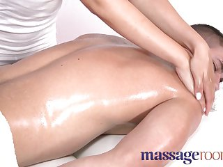 Massage Rooms - Hot masseuse takes big dick