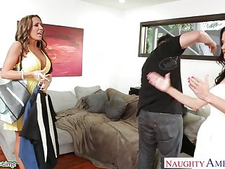 Richelle Ryan and Veronica Avluv in threesome