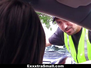Small-Frame Babe Fucks The Parking Attendant