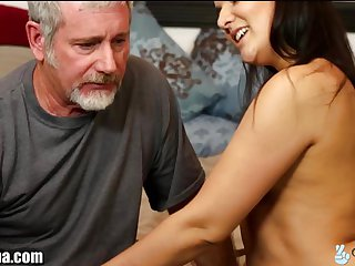 Jenna Caught with StepBro then Fucks Step-Dad