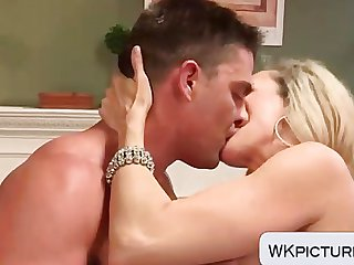 Brandi Love fucked with feet in his mouth