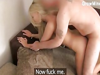 Teenage cowgirl balllicking