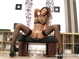 Russian fucking her sex toy