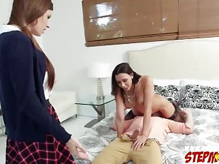 Stepmom teaches Dillion Carter to fuck