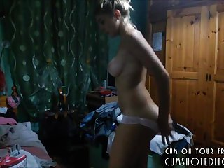 Amateur Teen Caught Dressing On Hidden Cam