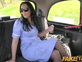 FakeTaxi - British nurse fucks taxi driver