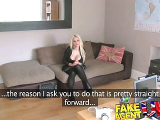 FakeAgentUK - Ex playboy model fucked hard