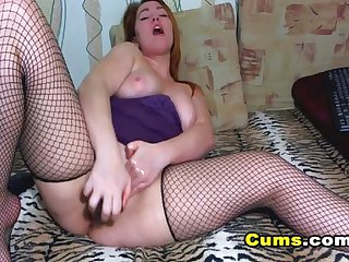 Busty Candy Playing her Dildo and Squirting o