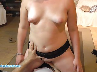 Chubby stripper get fingered licked n fucked