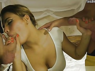 Horny girlfriend brutal sex