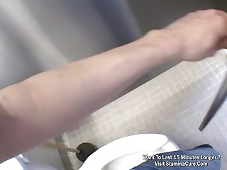 Teen fuck inside the bathroom