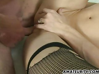 Hot amateur Milf sucks and fucks in a hotel
