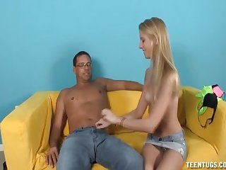 Hot teen jerk off a mature man