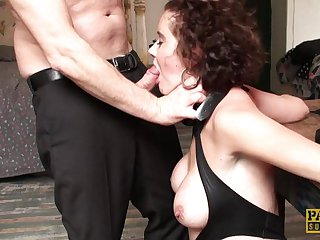 Mature roughed, cuffed & stuffed in the ass