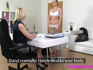 FemaleAgent First lesbian casting for blonde