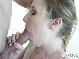 Tiny4K - Petite blonde Cynthia Thomas fucked