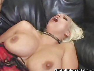 Nikki Hunter Gets Fucked In An Interracial