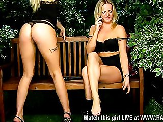 2 hot blondes, Jodie & Roxi together