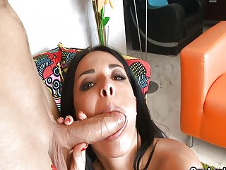 Anissa Kate gets cream on her pretty face