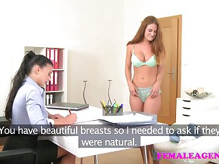 FemaleAgent New sexy busty agent loves pussy