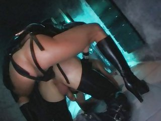 Leather Dungeon with Monique Covet & Chrystal