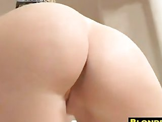 Blonde MILF Teasing Her Ass