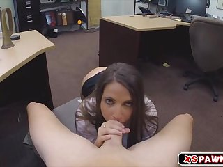 Sweet hot chick sucking a meaty hard cock