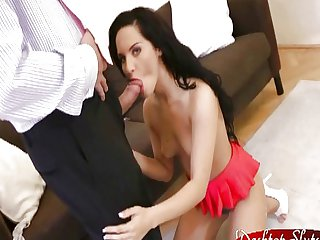Bettina Di Capri Fucks and Sucks Old Man