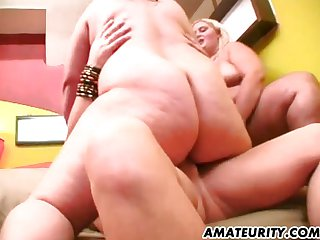 Amateur fat wives in an anal threesome