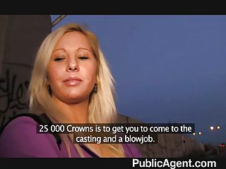 PublicAgent - Blonde accepts sex for money