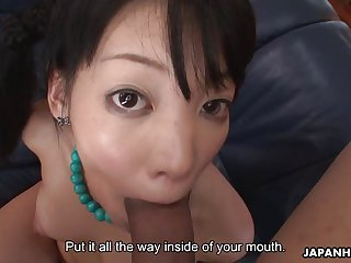 Three tied up Asian sluts get used up as sex