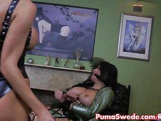 Puma Swede Gives Spanking and Strapon Fucking