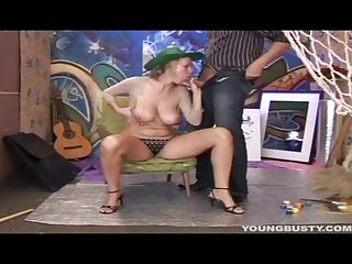 Busty young Alice take cock