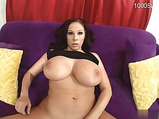 Busty cowgirl first facial