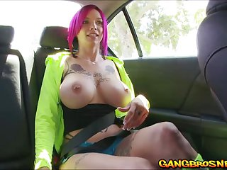 Anna Belle Peaks extremely wet pussy drilled