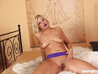 Young babe Carla gets big tits fucked