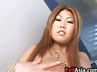 Sexy Asian With Large Breasts