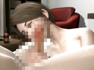 Busty 3D hentai babe gets tits fucked