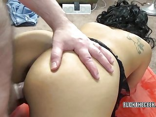 Dolly Naught takes a dick in her plump pussy