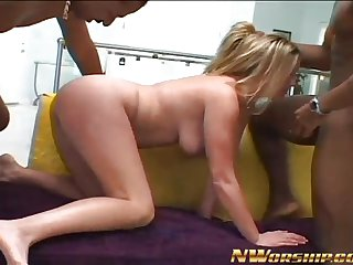 hot blonde interracial porn threesome