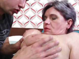 Fat Mommy Gets Young Cock