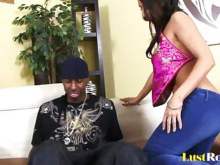 Lusty Raven Black loves  black meat