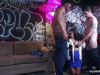 Vyxen & Gabby play dress-up in this hot orgy